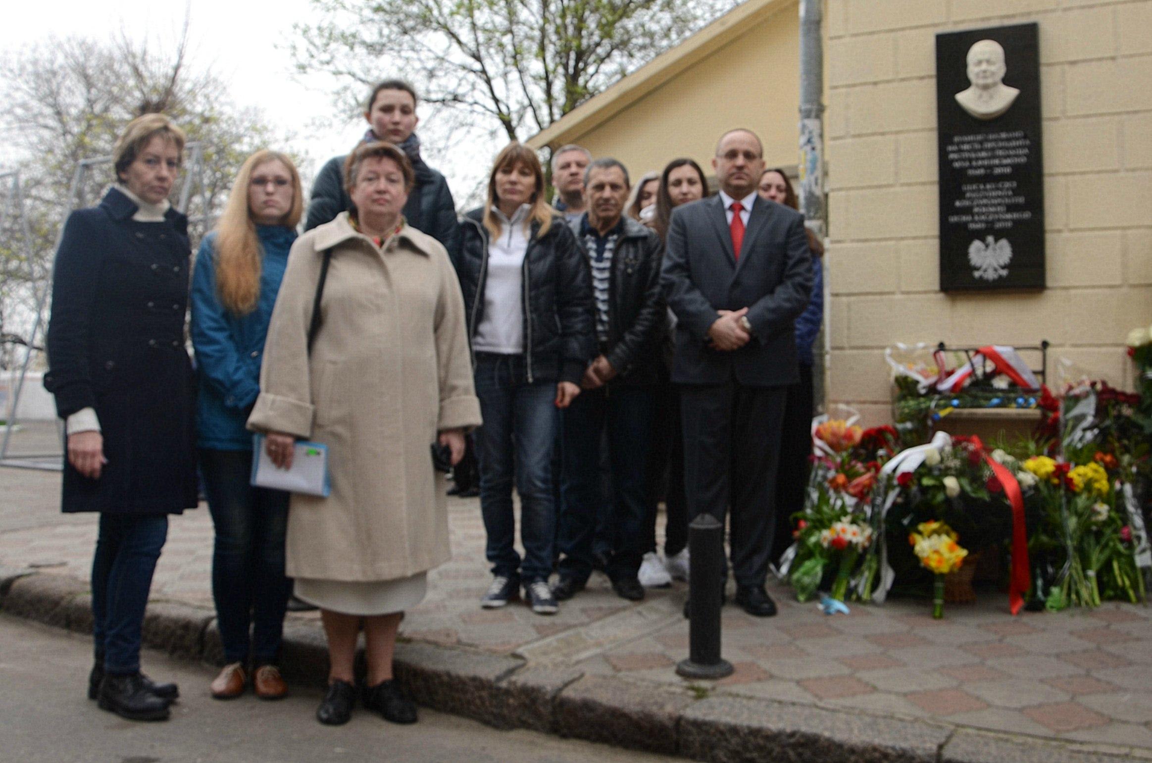 В Одессе состоялось возложение цветов к Мемориальной доске Леху Качиньскому