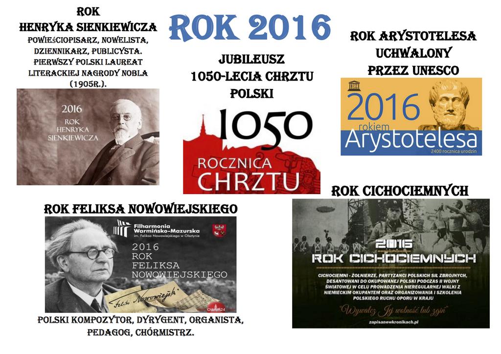 Kalendarium 2016  rok.
