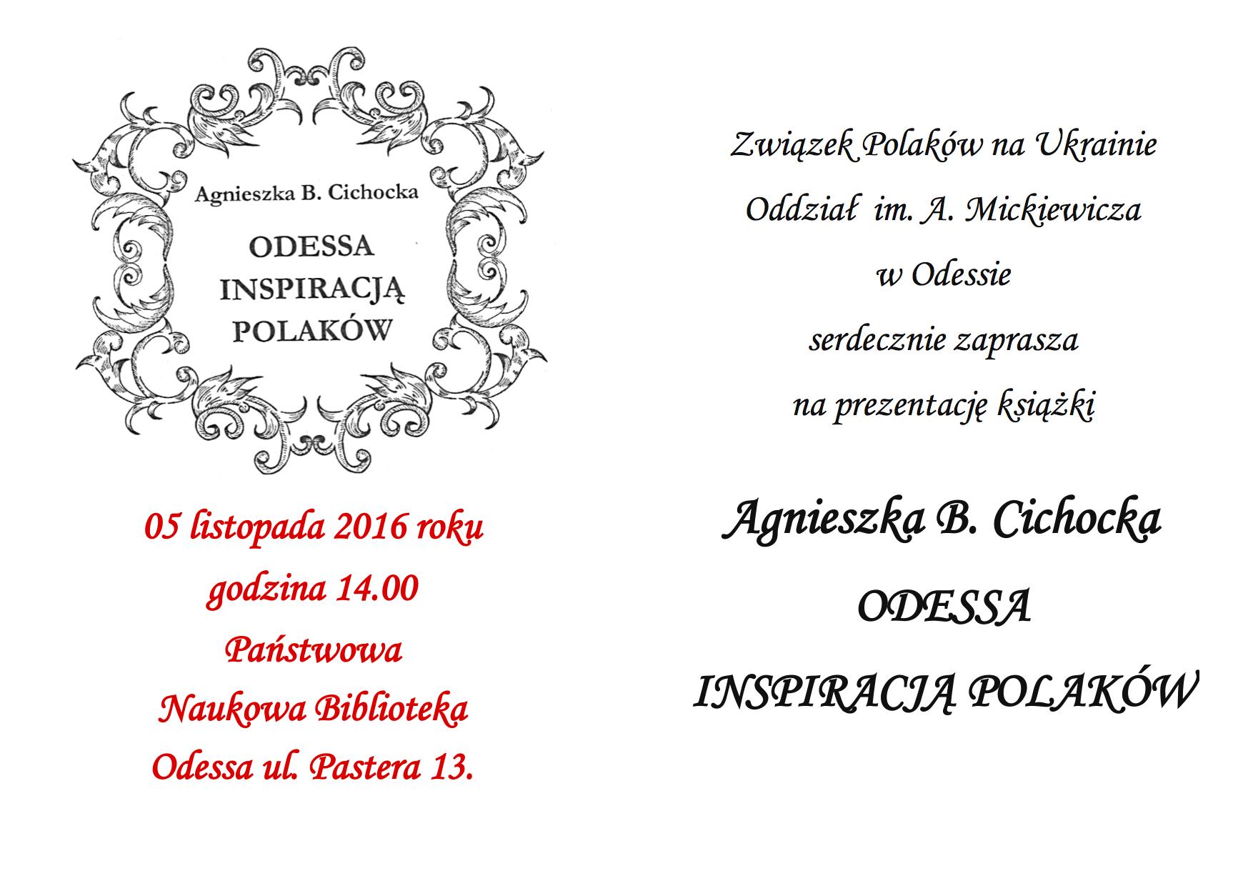 Odessa Inspiracja Polaków. Agnieszka B. Cichoka